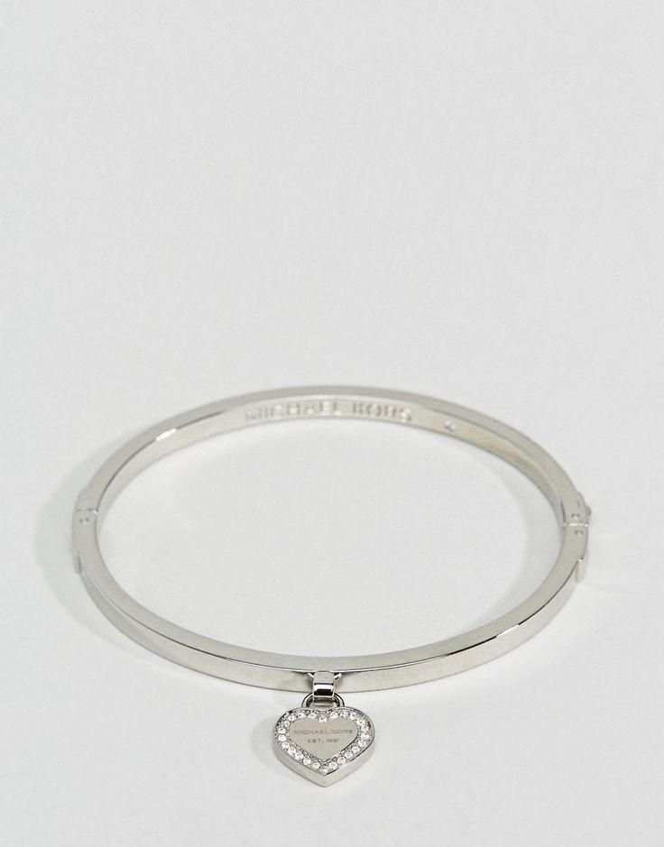 Michael Kors - Armreif mit Herzdesign, in Silber - Silber Jetzt bestellen unter: https://mode.ladendirekt.de/damen/schmuck/armbaender/armreifen/?uid=b6911b76-b5b9-5e1b-8637-c9ee5201dbbf&utm_source=pinterest&utm_medium=pin&utm_campaign=boards #schmuck #armreifen #armbaender #armbänder #uhren #female