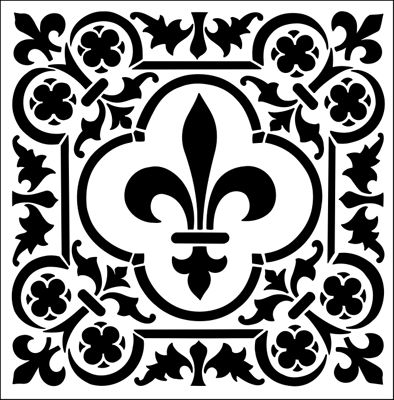 Tile No 1 stencil from The Stencil Library GOTHIC, MEDIEVAL AND TUDOR range. Buy stencils online. Stencil code GMT59.