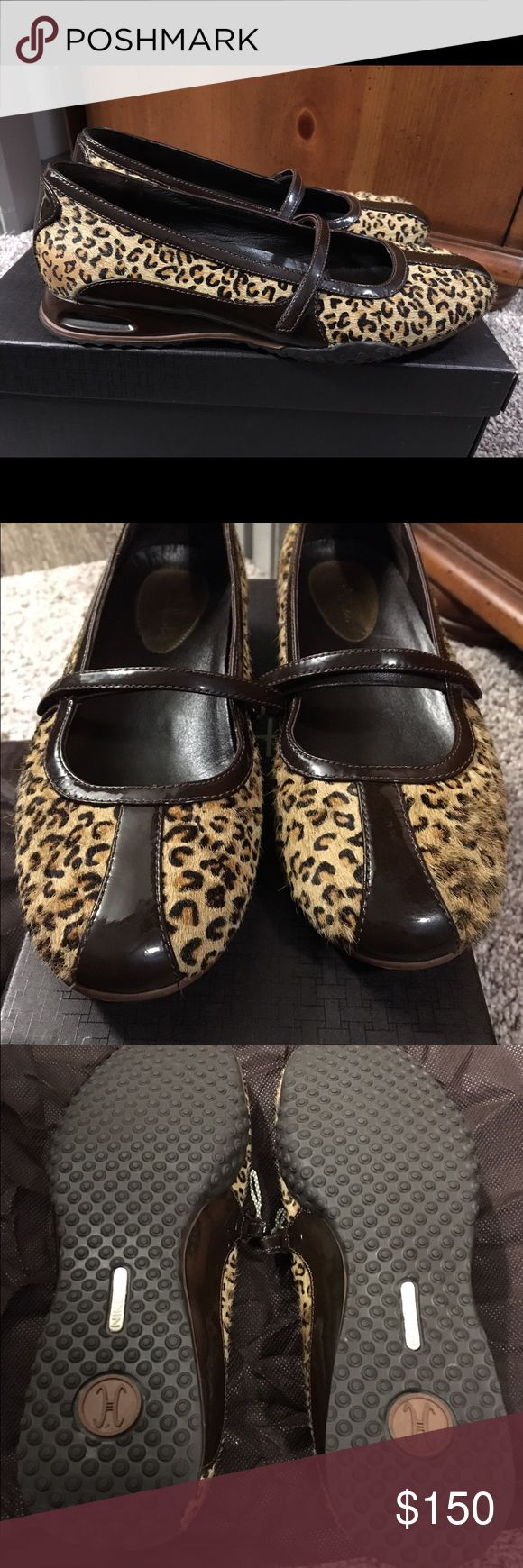 Cole Haan Leopard Print Nike Air MaryJane Shoes Cole Haan Leopard Print Nike Air MaryJane Shoes. These have been worn maybe twice. EXCELLENT condition and the most comfortable shoe I have. I have several pairs of this exact shoe in different colors but just never wear these so want someone else to enjoy them. They have Nike Air Soles. Cole Haan Shoes Flats & Loafers