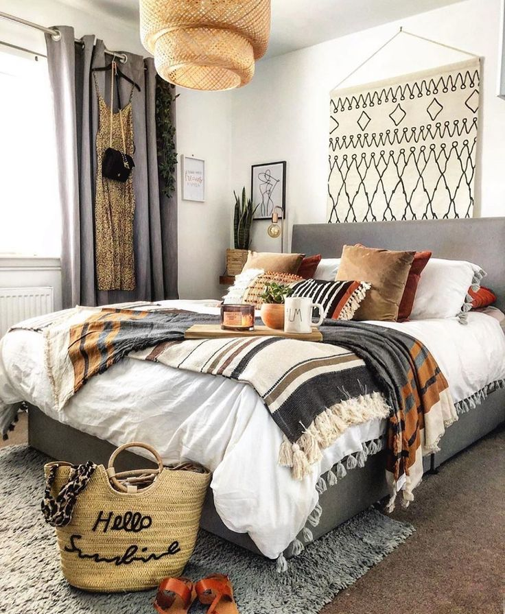 Bohemian Bedroom Decor Ideas #bohemian homedecorating