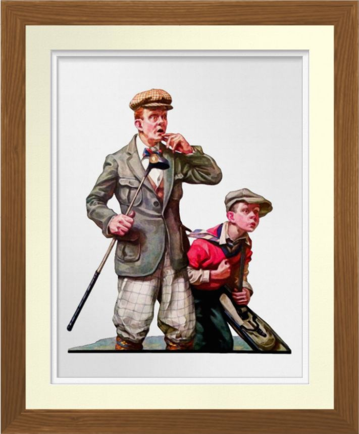 Vintage Golf Watercolor Print.  Based on a 1926 cover illustration by Lawrence Toney. Reproduced on Archival Heavyweight Paper. One for the golfer's wall https://www.zazzle.com/vintage_golf_watercolor_print-228469413391693210 #golf #golfing #art #prints #sport #vintage