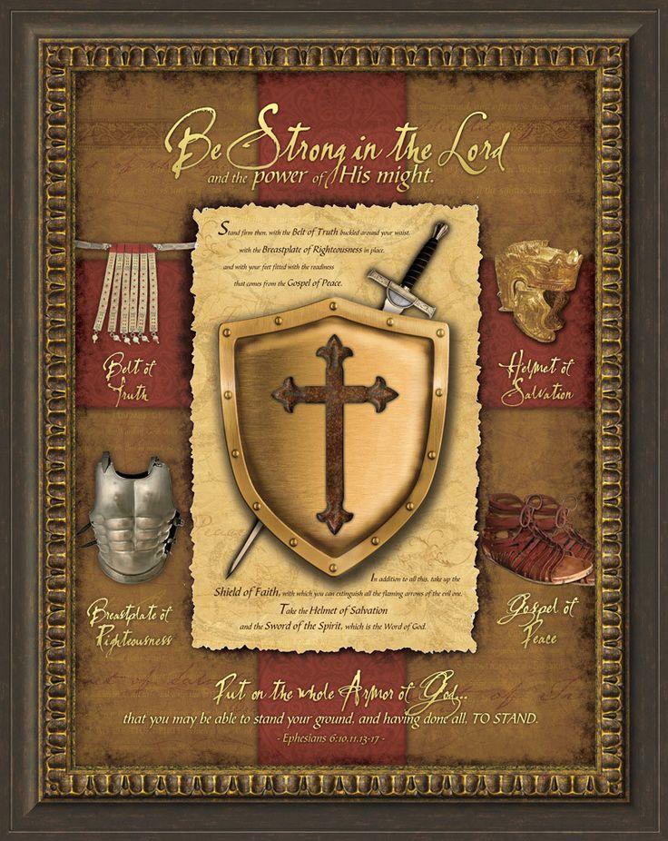 Full Armor Of God Framed Graphic Art Armor Of God