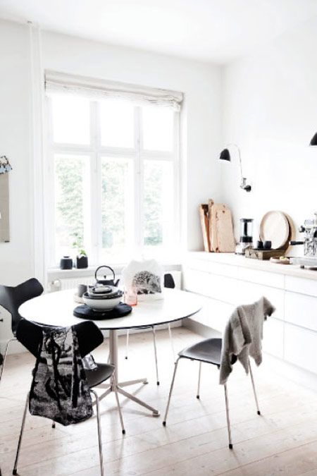 Scandinavian kitchen. Why not to get Scandinavian style to you home? Use fur, light colors, and lots of wood. See more Scandinavian Home Design Ideas at www.homedesignideas.eu
