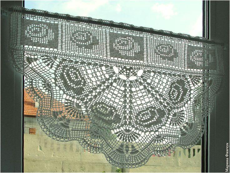 431 besten Häkeln Gardinen / crochet curtain Bilder auf Pinterest ...