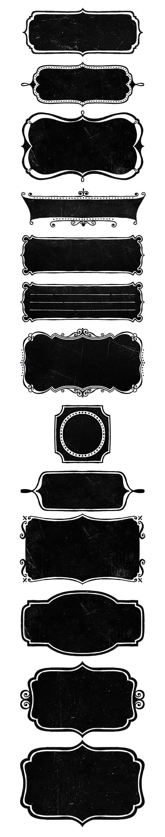Free Chalkboard Frames - Labels ~ Fonts Cafe