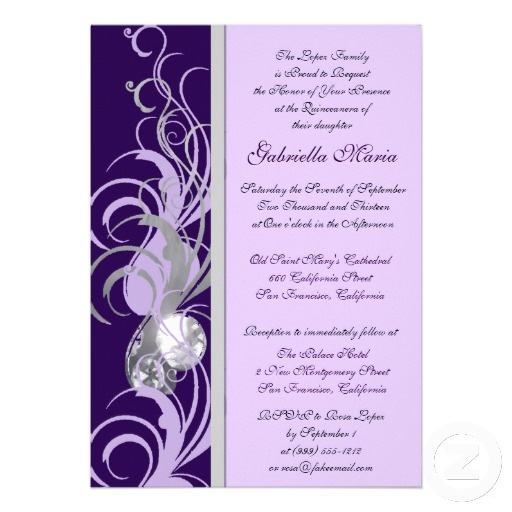 23 best quince invitation ideas images on pinterest quince purple and silvery custom quinceanera invitations stopboris Gallery