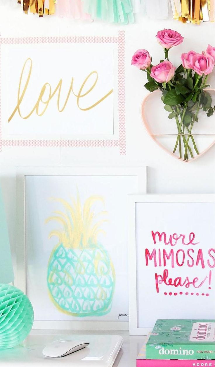 Adore hits bright and colorful creative workspace + home office!