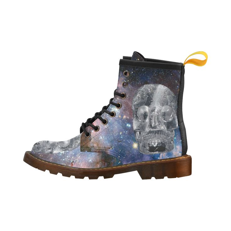 Crystal Skull Leather Martin Boots For Men #erikakaisersot #artsadd #boots