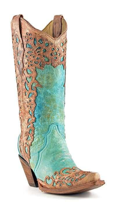 Corral Turquoise Cowboy Boots