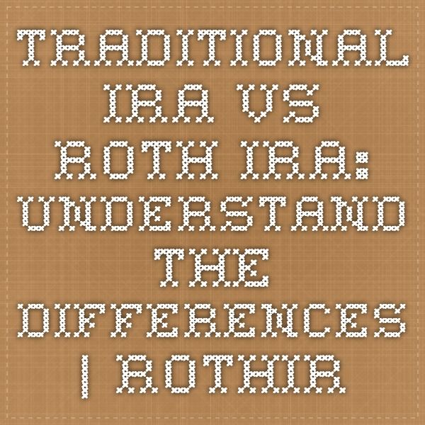 Traditional IRA vs. Roth IRA: Understand the Differences | RothIRA.com   see also: https://www.fidelity.com/retirement-ira/ira-comparison