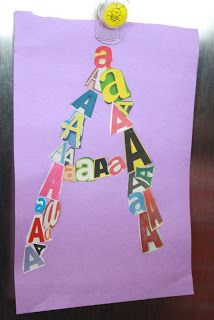 Letter Collage perfect to do when you finish Writing without Tears