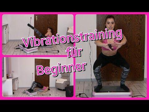 Workout auf der Vibrationsplatte zu Hause-Bauch Beine Po für Beginner