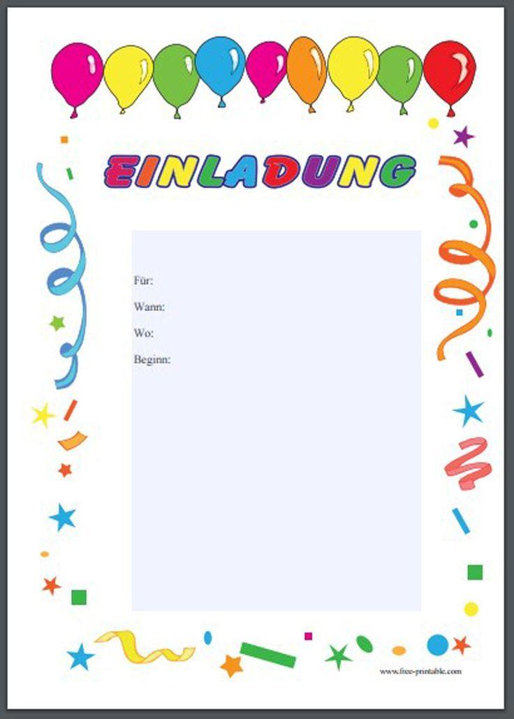 Einladungskarten Kindergeburtstag Online Gratis Elegant Einladung