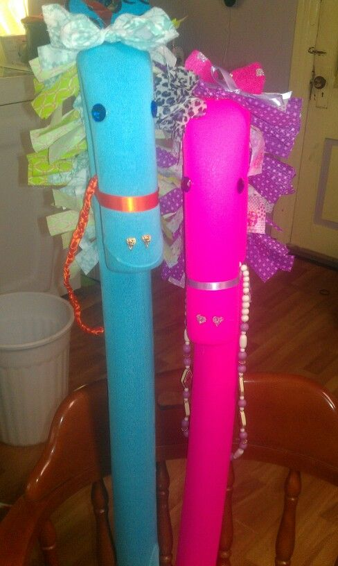 Pool Noodle Ponies, Sprinkles and Flower.  The girls had a blast choosing everything!
