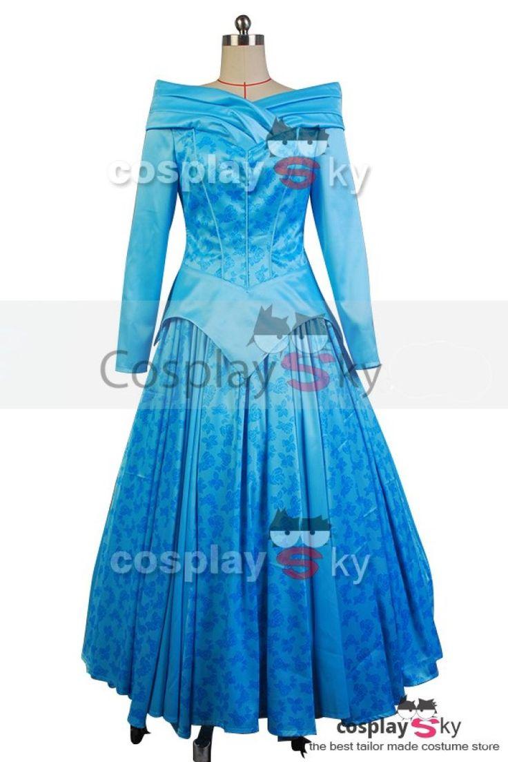 Disney Sleeping Beauty Princess Aurora Ballerina Blue Dress Cosplay Costume