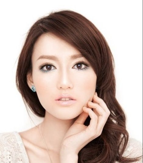 Simple steps to Japanese makeup makeup navy blue wind blowing