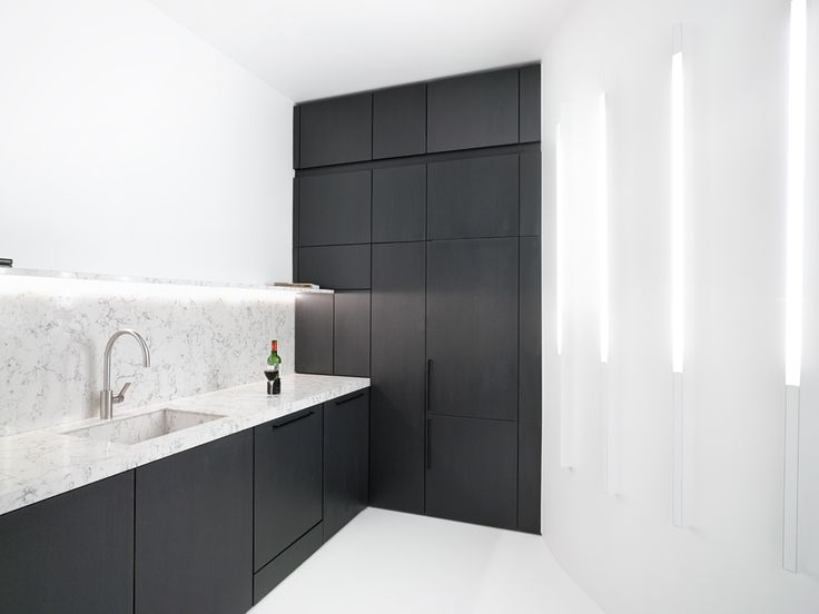contemporary kitchen / black and white / Paris / capo-architectes www.capo-architectes.com