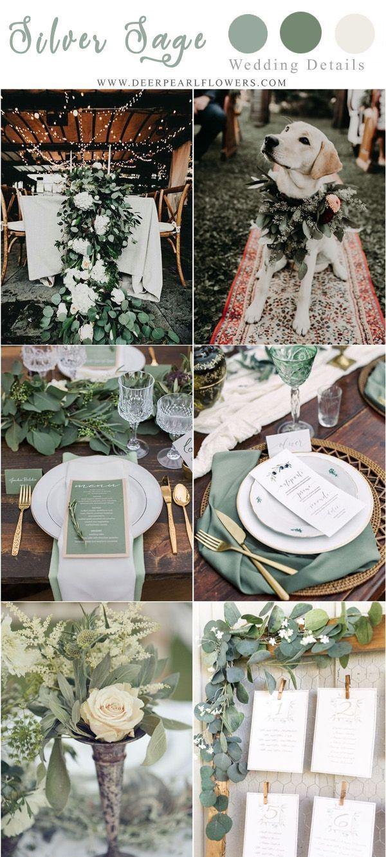 Emerald wedding decor ideas   Silver Sage Green Wedding Color Ideas for   Wedding Color