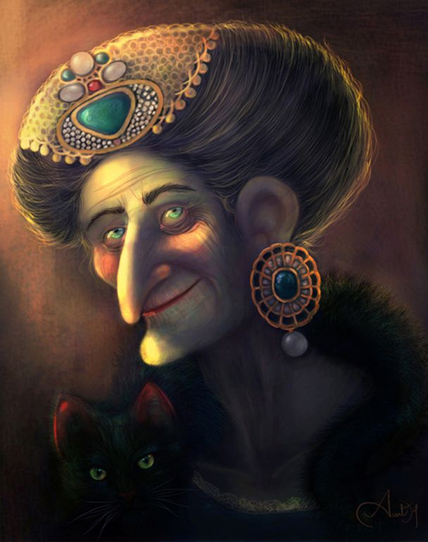 A 2D character - The Grand Witch designed by Anantdip Kaur.  META is open until end of the month. Send your entries in!