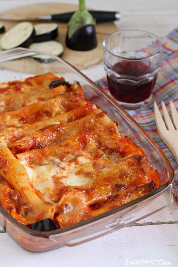 CANNELLONI AL SUGO DI SALSICCIA E MELANZANE ghiotto primo piatto cremosissimo, perfetto anche a #Pasqua #ricectta #primopiatto