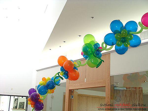 Цветы из воздушных шариков - это яркий, объёмный и лёгкий элемент декора 20 фотографий