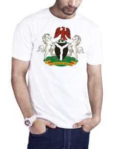 Men's Nigeria Coat Of Arms T-Shirt White