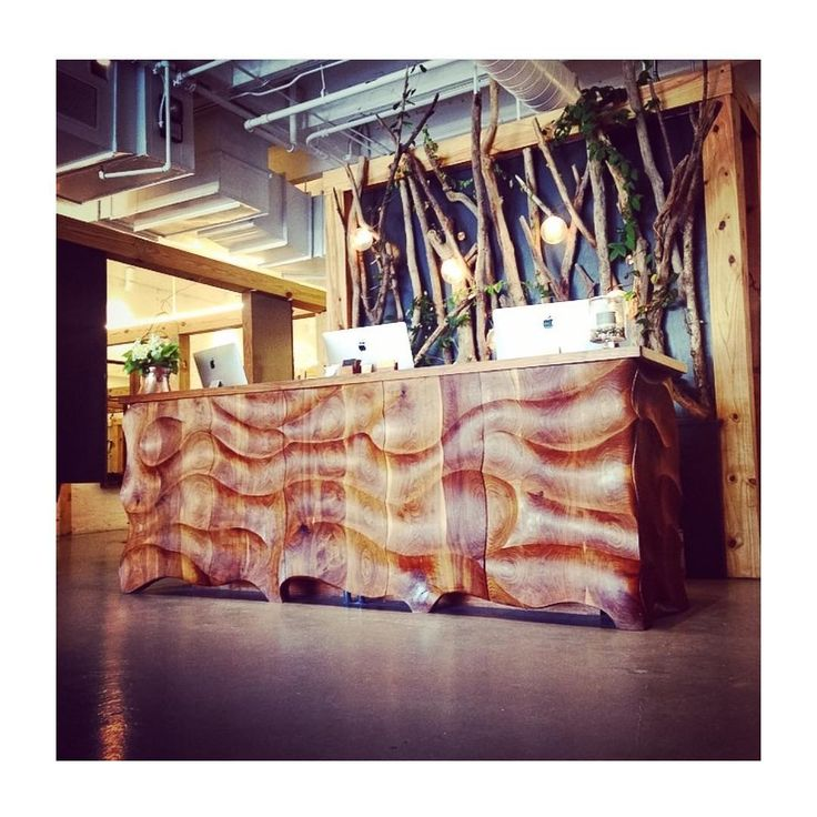 """""""Another collaboration with @kellygorsuch was the beautiful space at @immortalbeloveddc and especially this massive reception desk. It will probably take a…"""""""