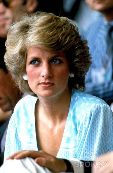 "July 13, 1985: Princess Diana at the ""Feed the World"" Live Aid concert at Wembley Stadium."