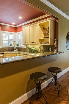 Basic Concept For Connecting Dining Room To Kitchen With High Top Counter  In Wall Cut Out. (pat Toats Did Not Write This Captionnnn)