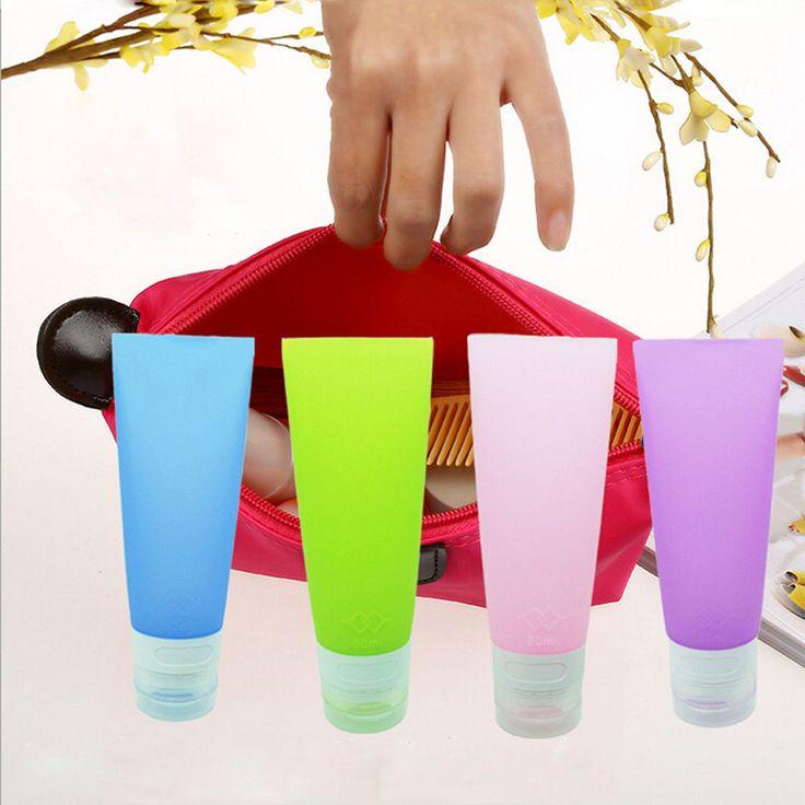 38 ML/80 ML Lindo Mini Travel Silicona Embalaje Botella de Loción Champú Tubo Contenedor de Botellas de Almacenamiento IC674579 en Bastidores y Soportes de Hogar y Jardín en AliExpress.com | Alibaba Group