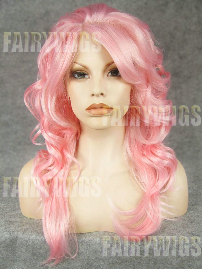 Custom Super Charming Long Female Wavy Lace Front Hair Wig 22 Inch