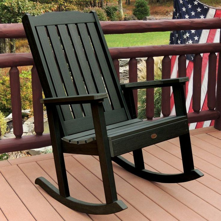 Outdoor highwood Lehigh Recycled Plastic Rocking Chair - AD-RKCH1-CHE