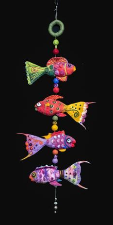 Felted fish by Helen Hovell