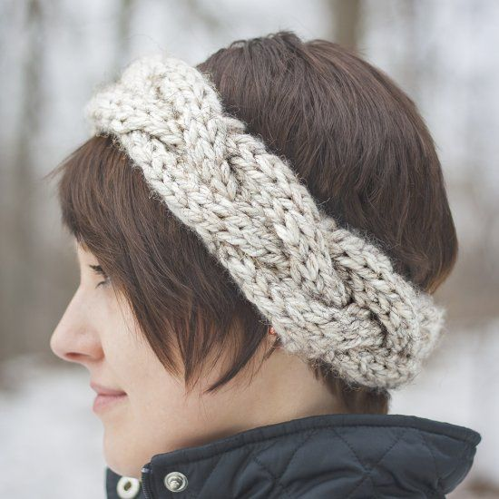 This is a great pattern for beginners- a super bulky cabled headband to keep your ears warm, and makes a great gift too!