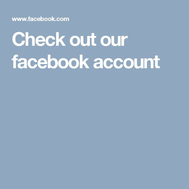 Check out our facebook account