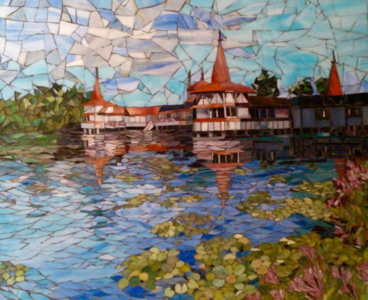 Мозаика : Озеро Хевиз Mosaik lake Heviz