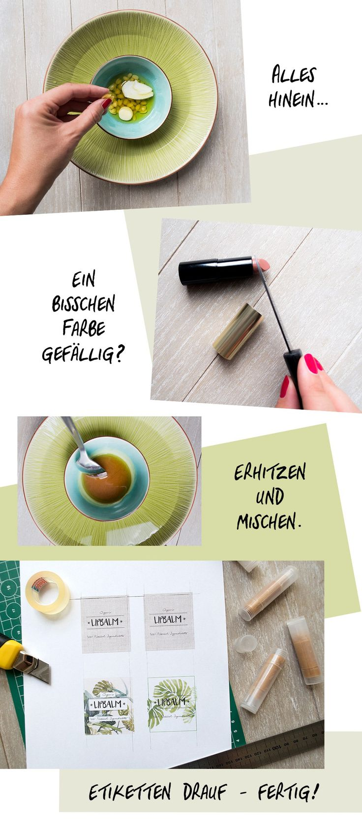 Lipbalm addicted oder auf der Suche nach einem coolen selbstgemachten Geschenk? Ich zeige Dir wie es geht und das in nur drei einfachen Schritten!