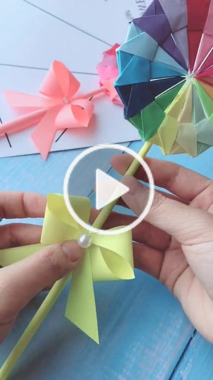 Origamixxx Origamixxx On Tiktok Lollipop Flower Not Hard To Make Diy Craft Creative Fyp Playathome Tutorial Xyzbca Crafts Creative Create Yourself