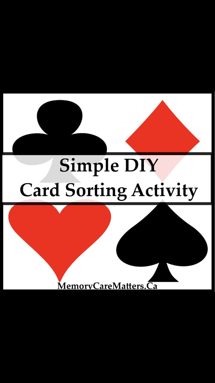 simple diy card sorting activity  sorting activities