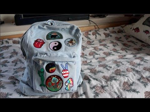 DIY: Denim Patch Backpack, via YouTube    DIY's   Backpacks, Diy