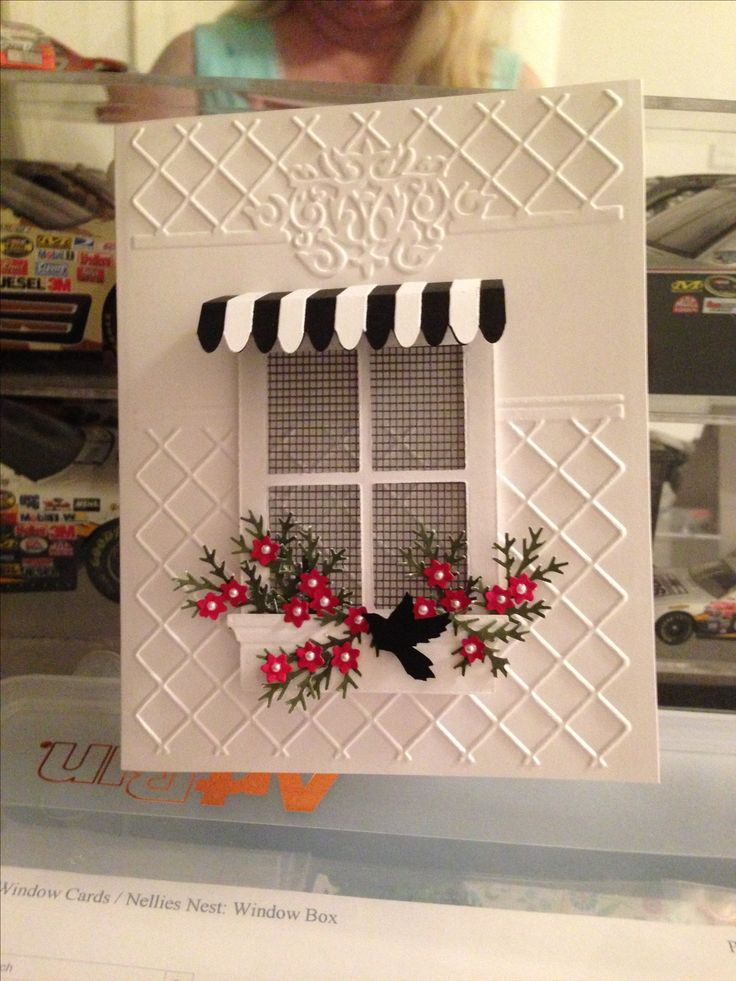 Window card with awning (word window punch)
