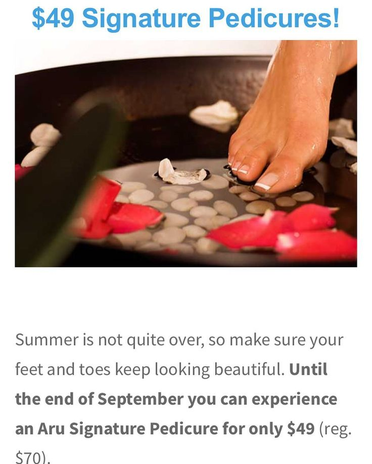 Be sure to mention this promo when booking! Offer expires September 30th.  #pedi #pedicure #nails #promo #september #nailsdone #spa #aruspa #aru #aruspaandsalon #treatyourself #summer #beauty #whiterock #surrey #southsurrey #vancouver #vancity #vancitybuzz #spas #local #van #health #happy #fun #like4like #followforfollow #spaservice