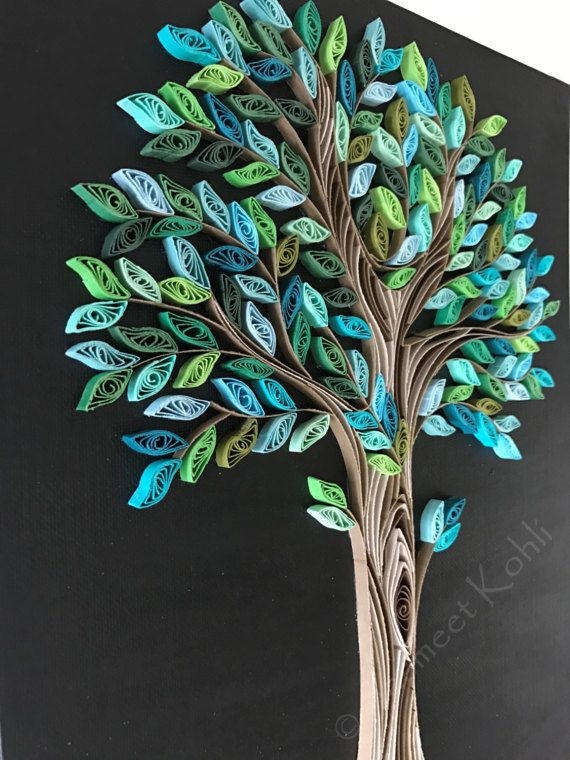 Spring Tree quilling// decorative wall art //tree home decor