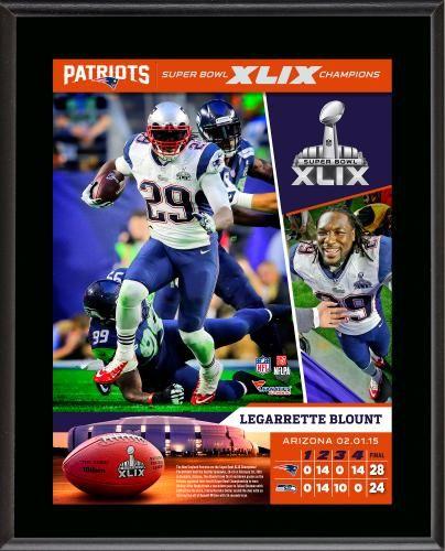 "LeGarrette Blount New England Patriots Super Bowl XLIX Champions 10.5"" x 13"" Sublimated Plaque"