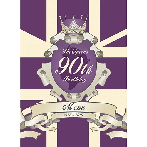 The Queen's 90th Birthday Menu Card - Each