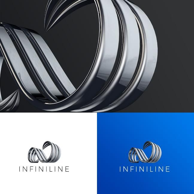 3D Metal Infinit investments logo in motion