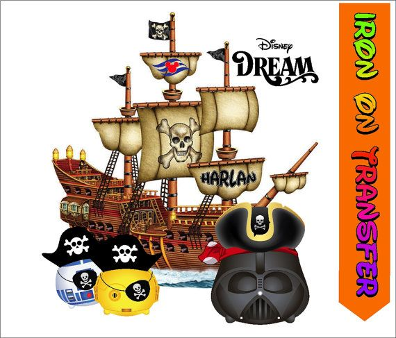 Iron On Transfer  Disney Dream Cruise Pirate Star by MyPettitees