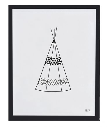 AFFICHE + CADRE (30x40cm) - TEEPEE