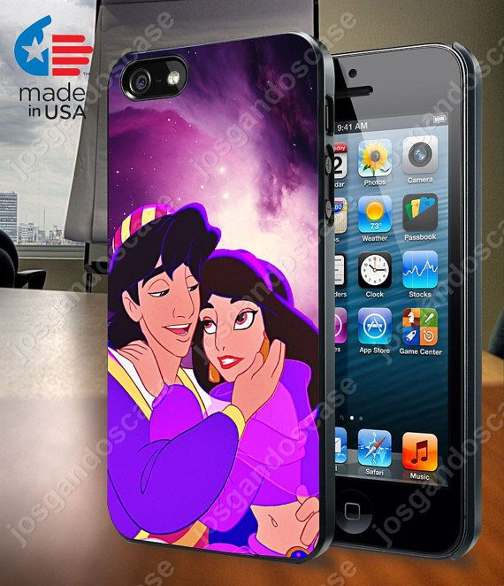 Aladdin and Jasmine Disney In Galaxy Nebula Case by josgandoscase, $14.79