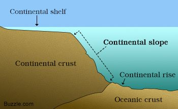 Continental slope diagram Fun facts, Continental shelf